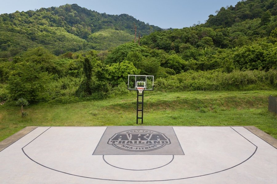 Basketball on the mountain