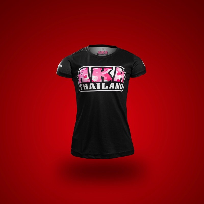 Black with Pink Camo AKA T-Shirt FRONT