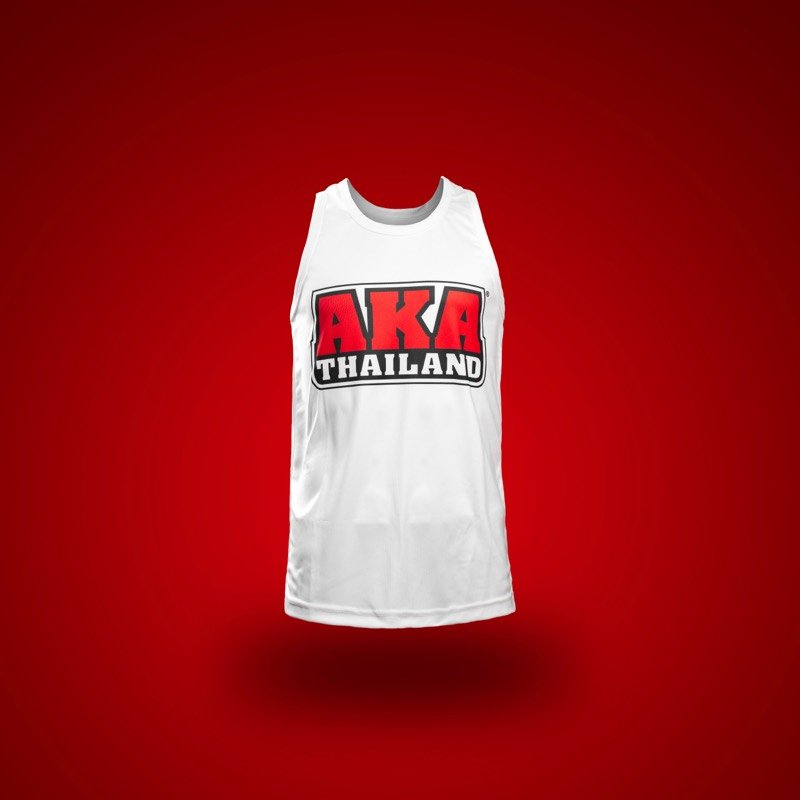 White and Red Tank Front